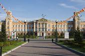 IRKUTSK,RU-JUN,24:The building in Soviet monumental classicism style in Jun,24 2012 in Irkutsk,RU