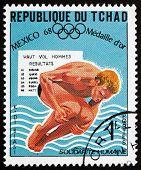 Postage Stamp Chad 1969 Klaus Dibiasi, Springboard Diving