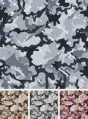 image of camo  - Illustration of a set of complex abstract military camouflage for night with shades for army background and nocturnal camo fight clothes wallpapers - JPG