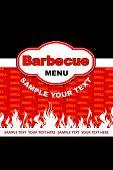 Barbecue menu design.