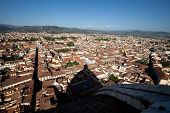 The view on Florence from the dome Duomo