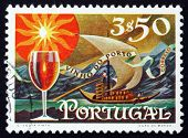 Postage Stamp Portugal 1970 Glass Of Wine And Barge With Barrels