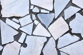 White Ceramic Mosaic Wall Tile As Textural Background