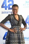 LOS ANGELES - APR 9: Danai Gurira at the Los Angeles Premiere of '42' at TCL Chinese Theater on Apri