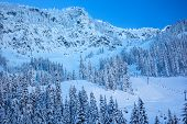 Snow Mountain Skiing Chairlifts Snoqualme Pass Washington