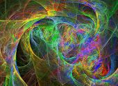 Abstract Vivid Rainbow Design