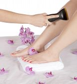 Day Spa Hair Removal By Masseuse On Leg
