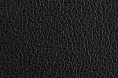 stock photo of raw materials  - Closeup detail of black leather texture background - JPG