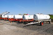 picture of klamath  - Anhydrous Ammonia transport tanks outside a chemical and fertilizer company in Klamath Falls OR - JPG