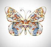 Colorful beautiful abstract butterfly.