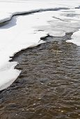 Spring Thaw In Canada.
