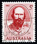 Selo postal Austrália 1962 John Mcdouall Stuart
