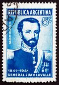Postage Stamp Argentina 1941 General Juan Galo De Lavalle