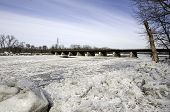 Annual ice jams overflow the Mohawk River