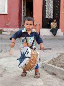Little romani musician