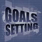 Goal Setting Concept - Business Touching Screen, art illustration