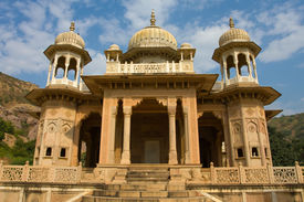 stock photo of gator  - Memorial grounds to Maharaja Sawai Mansingh II and family constructed of marble - JPG