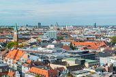Luftbild von München marienplatz