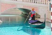 Gondolier In Venetian Hotel In Las Vegas
