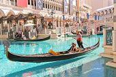 Gondola Rides In Venetian Hotel In Las Vegas