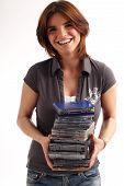 Pile Of Cd/dvd Cases