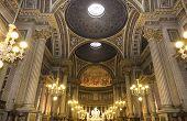 Interiors and details of La Madeleine church, Paris, France