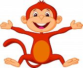 Happy monkey cartoon