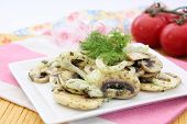 salad of mushrooms