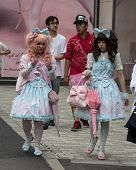 Gothic Lolitas Walking In The Street