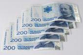 Norwegian Two Hundreds Crones Paper Banknotes