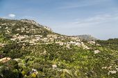 Luxury Homes On Hillside Near Eze France