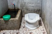 picture of hillbilly  - Thai traditional old toilet in thailand country - JPG