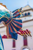 Drac Fantastic Figure At Festa Major In Sitges, Spain