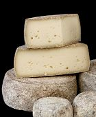 France Cheese on black background.
