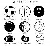 Sport ballen illustratie Set