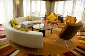 stock photo of scant  - Modern living room from a contemporary appartment - JPG