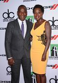 LOS ANGELES - OCT 21:  Viola Davis & Julius Tennon arrives to Hollywood Film Awards Gala 2013  on Oc