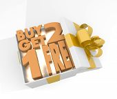 Christmas Gift Box With Buy Two Get One Free Symnol