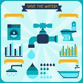 stock photo of water-saving  - Save the water - JPG