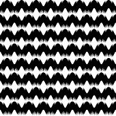 Design Seamless Uncolored Zigzag Background