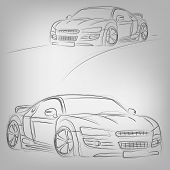 Vector Sketched Car