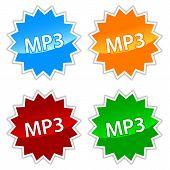 Mp3 icons set