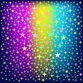 Colorful Star Rain On Glowing Background