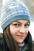 Teenage Girl In Winter Cap