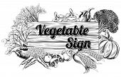 Vintage Vegetable Produce Sign