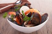stock photo of crustaceans  - bowl of crustacean - JPG