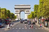 The Champs-Elysees And The Arc De Triomphe