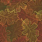 Autumn transparent maple leaves pattern seamless background.