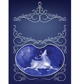 rich decorated elegant ornament background of peek a boo card
