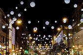 Oxford Street christmas lights 2013